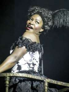 BARNUM - Landi Oshinowo as 'Blues Singer'.  Photo by Johan Persson