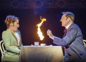 BARNUM - Linzi Hateley as 'Chairy' and Brian Conley as 'PT Barnum'. Photo by Johan Persson