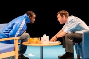 BLUE ORANGE by Penall, , Writer - Joe Penal, Director - Mathew Xia, Design - Jeremy Herbert, Lighting - Adam Silverman, The Young Vic Theatre, 2016, London, UK, Credit: Johan Persson/